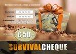 SurvivalCheque - Cadeaubon t.w.v. € 50,00