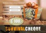 SurvivalCheque - Cadeaubon t.w.v. € 100,00