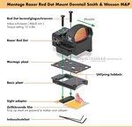 Vortex Razor Red Dot Handgun Mount (Smith & Wesson M&P)