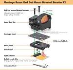 Vortex Razor Mount Red Dot Dovetail Beretta 92