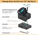 Vortex Razor Mount Red Dot Low 3/8 rail mount