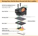 Vortex Razor Red Dot Mount Dovetail Glock 9mm