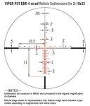Vortex Viper PST Gen II 2-10x32 FFP richtkijker, EBR-4 Dradenkruis (MRAD) tactical scope