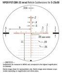 Vortex Viper PST Gen II 5-25x50 FFP tactical richtkijker, EBR-2C Dradenkruis (MRAD)