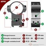 Sportsmatch Montage ATP90 30mm picatinny/waever volledig verstelbaar (Photon RT)