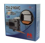 Falcon Eyes Bi-Color LED Lamp Set Dimbaar DV-216VC-K2 incl. Accu_