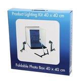Falcon Eyes Opvouwbare Opnamebox PBK-40AB-2LS 40x40 cm + 2 x 50W Lampen_