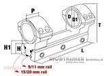Konus Universele Montering voor 30-25,4 mm_