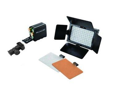 Falcon Eyes LED Lamp Set Dimbaar DV-160V-K3 op Batterij