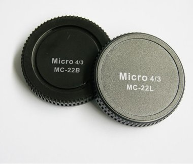 Pixel Lens Rear Cap MC-22B + Body Cap MC-22L voor Micro Four Thirds