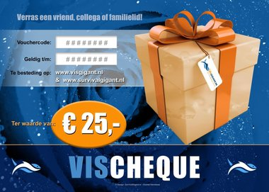 VisCheques - Cadeaubon t.w.v. € 25,00