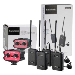 Saramonic Dubbele Microfoon Set Draadloos SR-WM4C met Audiomixer AX100